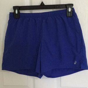 EUC ❤️ Boys small ASICS royal blue swim trunks